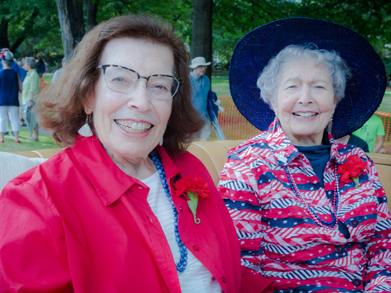 Our wonderful 2018 Grand Marshal's, Joyce Epstein and Mary Mastain! Photo by Graham Lewis
