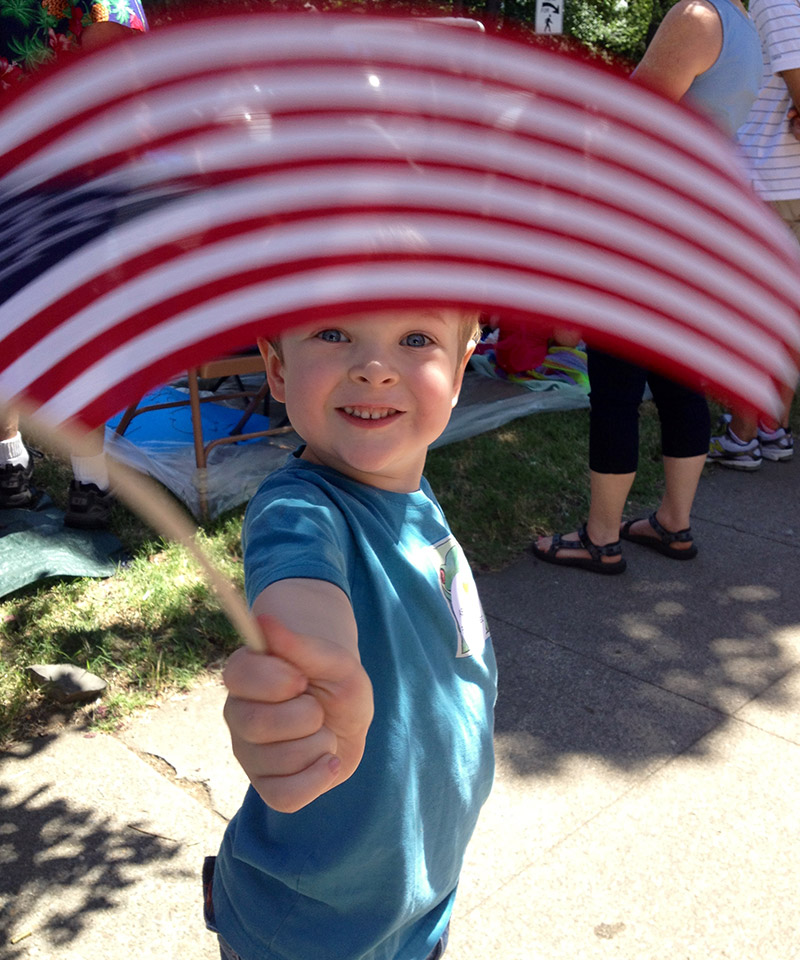 My favorite 4th pic! It's my son Jacob at the parade a few years ago. Laurel McKee