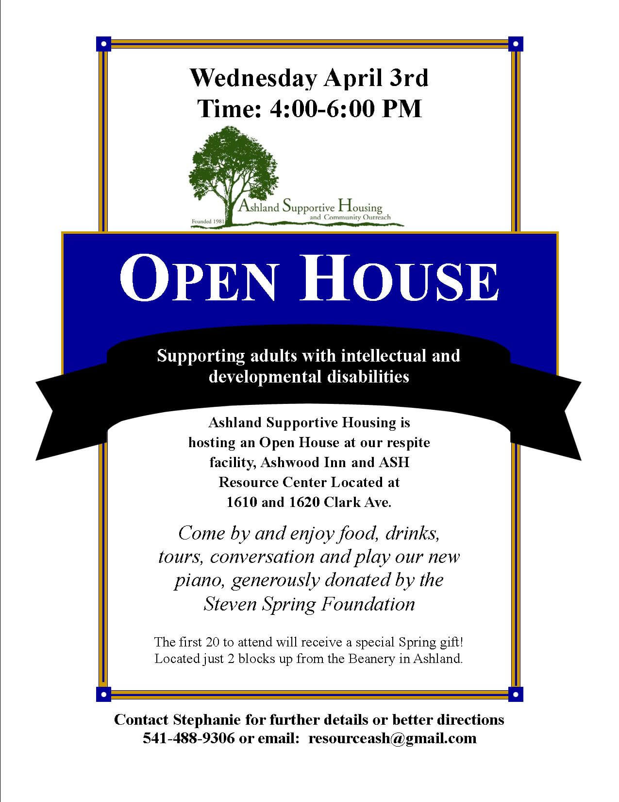business open house flyers